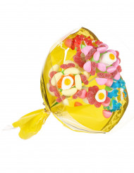 Supporto per un bouquet di caramelle con 4 fiori