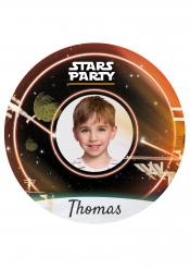 Disco di zucchero personalizzabile Stars party