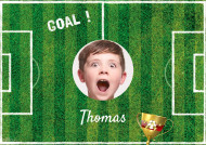 Foglio di zucchero A3 personalizzabile campo di calcio goal