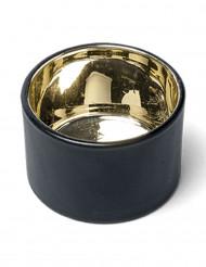 Piccolo porta candela nero e oro
