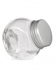 Vasetto di vetro con coperchio in acciaio