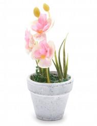 Piccola orchidea artificiale rosa
