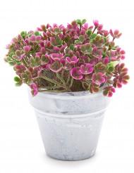 Piccolo vaso di fiori artificiali fucsia