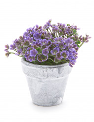 Piccolo vaso di fiori artificiali viola
