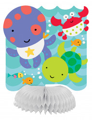 4 mini centri per tavola Primo compleanno Oceano