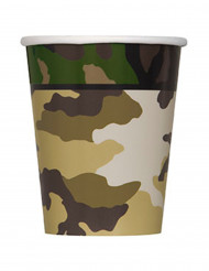 8 bicchieri in cartone militare