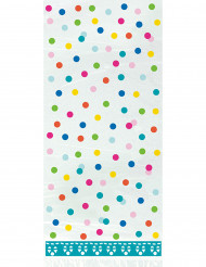 20 sacchetti di plastica Happy Birthday color turchese