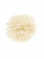 Pompon di carta color avorio da appendere 25 cm