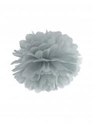 Pompon da appendere in carta grigia 25 cm