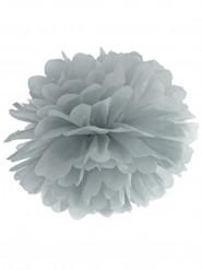 Decorazione con pompon in carta da appendere grigio lungo 35 cm