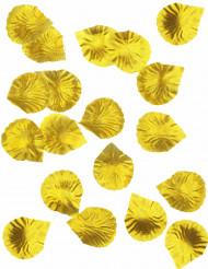 100 petali in tessuto dorato
