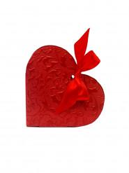 10 scatole di confetti a forma di cuore rosso