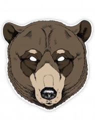 Maschera da orso in carta per adulto