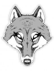 Maschera di cartone da lupo