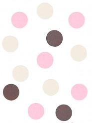 Kit confetti decorativi rosa, panna e cioccolato
