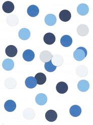 Coriandoli di carta bianchi e blu 5 grammi
