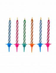 10 Candeline magiche colorate