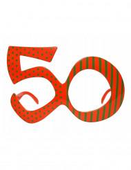 Occhiali colore arancione verdi 50 anni