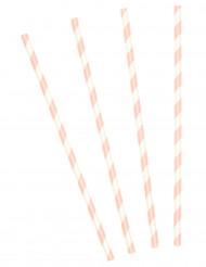 10 cannucce a strisce rosa
