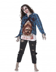 Costume zombie incinta con neonato in lattice Halloween