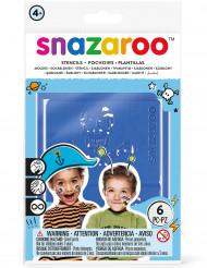 6 stencil adesivi Snazaroo™