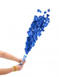 Tubo sparacoriandoli blu da 20 cm
