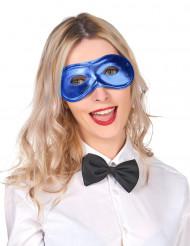 Mascherina metallizzata blu per adulto