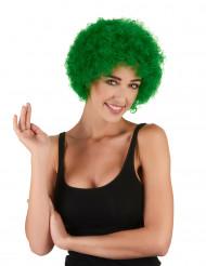 Parrucca da clown per adulto verde