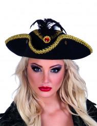 Cappello pirata a tre punte da donna