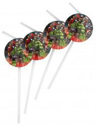 Lotto 6 cannucce con medaglione Avengers™