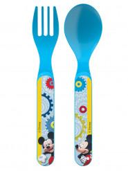 Set di 2 posate di plastica Mickey Mouse