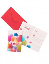6 inviti con palloncini