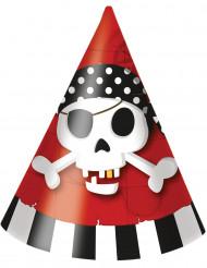 Lotto 6 cappelli di carta con pirati