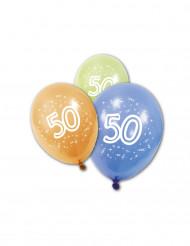 8 palloncini per il compleanno dei 50 anni