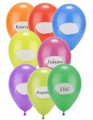 8 palloncini da personalizzare