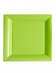 12 piatti quadrati di plastica