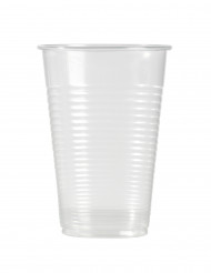 100 bicchieri in plastica trasparente 20 cl