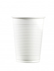 100 bicchieri in plastica bianca 20 cl