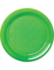 50 piattini verdi in plastica