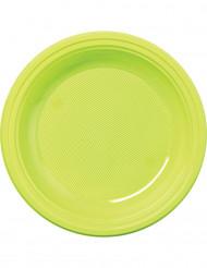 50 piattini verde anice