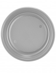 30 piatti di plastica color argento