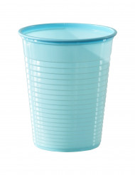 50 bicchieri di plastica celeste