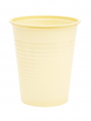 50 bicchieri avorio di plastica