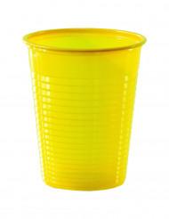 50 bicchieri in plastica gialli 20 cl