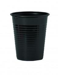50 bicchieri neri in plastica