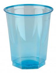 10 bicchieri in plastica turchese