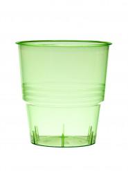 10 bicchieri di plastica verde da 25 cl