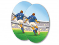Decorazione da ritagliare rugby