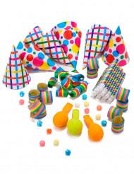 Set cotillons per festa multicolore per 10 persone