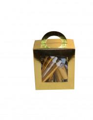 Scatola di cotillon dorati per 10 persone